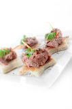 Liver Pate Canapes Stock Photo
