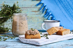 Liver pate Royalty Free Stock Photos