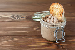 Liver pate with sandwiches Stock Photos