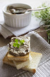 Liver pate with toasts Stock Image