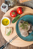 Liver patties with vegetables Royalty Free Stock Image