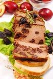 Liver pie with prune Stock Photo