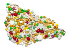 Liver of pills and capsules Royalty Free Stock Images