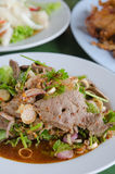 Liver salad , spicy dish Stock Photo