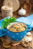 Liver in sauce Royalty Free Stock Images