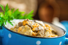 Liver in sauce Royalty Free Stock Photos
