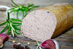 Liver sausage Royalty Free Stock Image