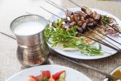 Liver Sish Kebab Stock Photography