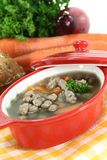 Liver spaetzle soup Royalty Free Stock Photography