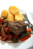 Liver and veg casserole meal Stock Photos