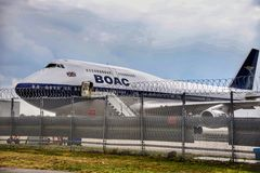 liveried 747 półdupki zdjęcie royalty free