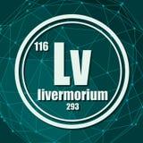 Livermorium chemisch element vector illustratie