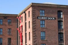 Liverpool Albert Dock. Liverpool renovated brick warehouse buildings at the Albert Dock Stock Photography