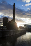 Liverpool Albert dock at dusk Stock Photo
