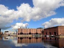 Liverpool Albert Dock in Merseyside Engeland stock foto