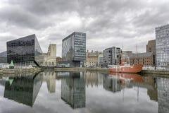 Liverpool Albert Dock - reflexões Imagens de Stock Royalty Free