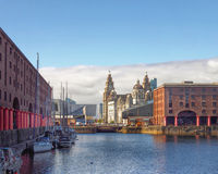 Liverpool. Albert Dock,Liverpool,UK with ships Royalty Free Stock Photos