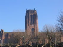 Liverpool Anglican Cathedral. England stock photos