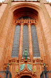 Liverpool Anglican Cathedral. Anglican Cathedral of Liverpool, facade detail Royalty Free Stock Photography