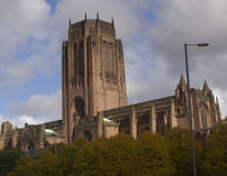 Liverpool Anglican Cathedral in England Stock Images
