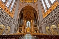 Liverpool Anglican Cathedral Nave Stock Photography