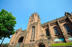 Liverpool Anglican Cathedral. stock photo