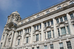 Liverpool architecture. Looking up at Port of Liverpool building Stock Photo