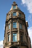 Liverpool architecture. Old building in Liverpool with reflection of sky in windows Royalty Free Stock Image