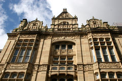 Liverpool architecture. Looking up at  building in Liverpool Royalty Free Stock Photography