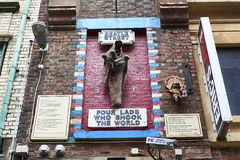 Liverpool Beatles väggkonst Royaltyfria Foton