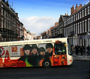 Liverpool bus for 2008 Royalty Free Stock Photography