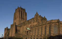 Liverpool Cathedral. Church of Christ built on St. James� Mount and is visible from miles around Stock Images