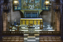 Liverpool Cathedral,. Lady Chapel inside Liverpool Cathedral, Liverpool, England Royalty Free Stock Image