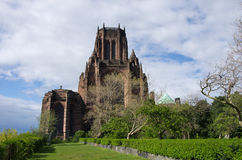 Liverpool cathedral. In blue sky Stock Images