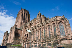 Liverpool cathedral. In blue sky Royalty Free Stock Photography
