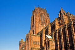 Liverpool Cathedral built on St James's Mount in Liverpool royalty free stock photos