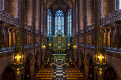 Liverpool Cathedral. Chapel room in Liverpool Cathedral Stock Images