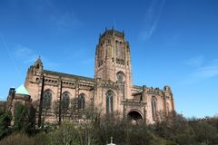Liverpool Cathedral. Of the Church of England. Gothic Revival landmark Stock Images