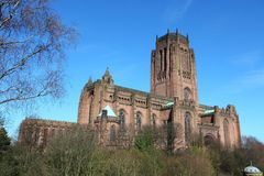 Liverpool cathedral. Liverpool - city in Merseyside county of North West England (UK). Liverpool Cathedral Stock Images