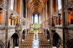 Liverpool Cathedral inner. Liverpool Cathedral indoor, England, UK Royalty Free Stock Image