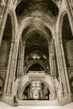 Liverpool Cathedral inside. ENGLAND, LIVERPOOL - 15 NOV 2015: Liverpool Cathedral inside Royalty Free Stock Image