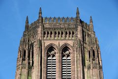 Liverpool Cathedral. Of the Church of England. Gothic Revival landmark Stock Photography