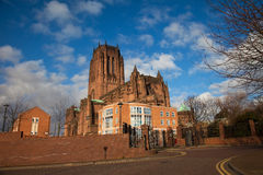 Liverpool Catherdral and St james House Stock Photography