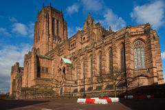 Liverpool Catherdral and St james House Stock Images