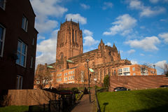 Liverpool Catherdral and St james House Royalty Free Stock Image