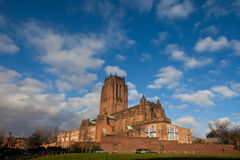 Liverpool Catherdral and St james House Royalty Free Stock Images