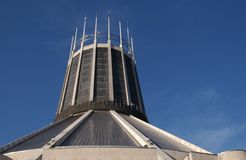 Liverpool Catholic Cathedral. On a sunny day Royalty Free Stock Photo