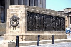 Liverpool Cenotaph. The Liverpool Cenotaph Great War Memorial by St Georges Hall, Liverpool, Merseyside, England, UK, Western Europe Royalty Free Stock Photo