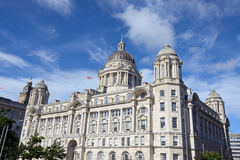 Liverpool centrum miasta - Trzy graci, budynki Zdjęcie Stock