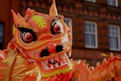 Liverpool Chinese New Year - Dragon Dance Royalty Free Stock Image